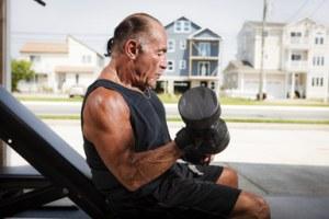 senior weight trainer