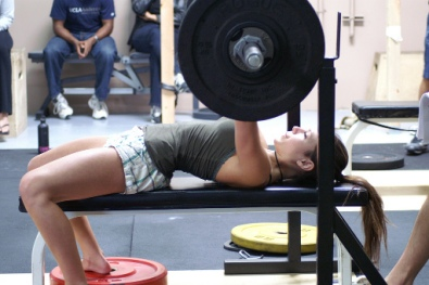 female weight training