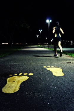 night jogging