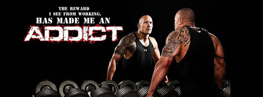 gym addict the rock