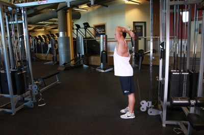 overhead cable triceps extension