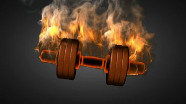 burning dumbbell