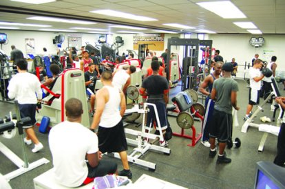 crowded weight room