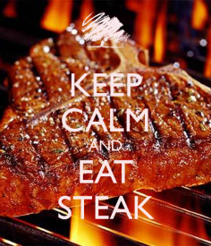 eat steak