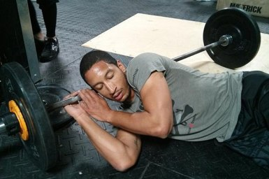 sleepy weightlifter