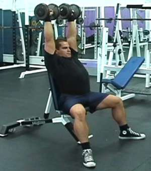 dumbbell shoulder press
