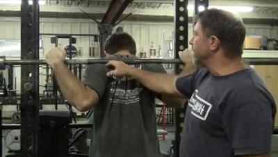 back squat position