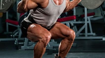 back squat legs