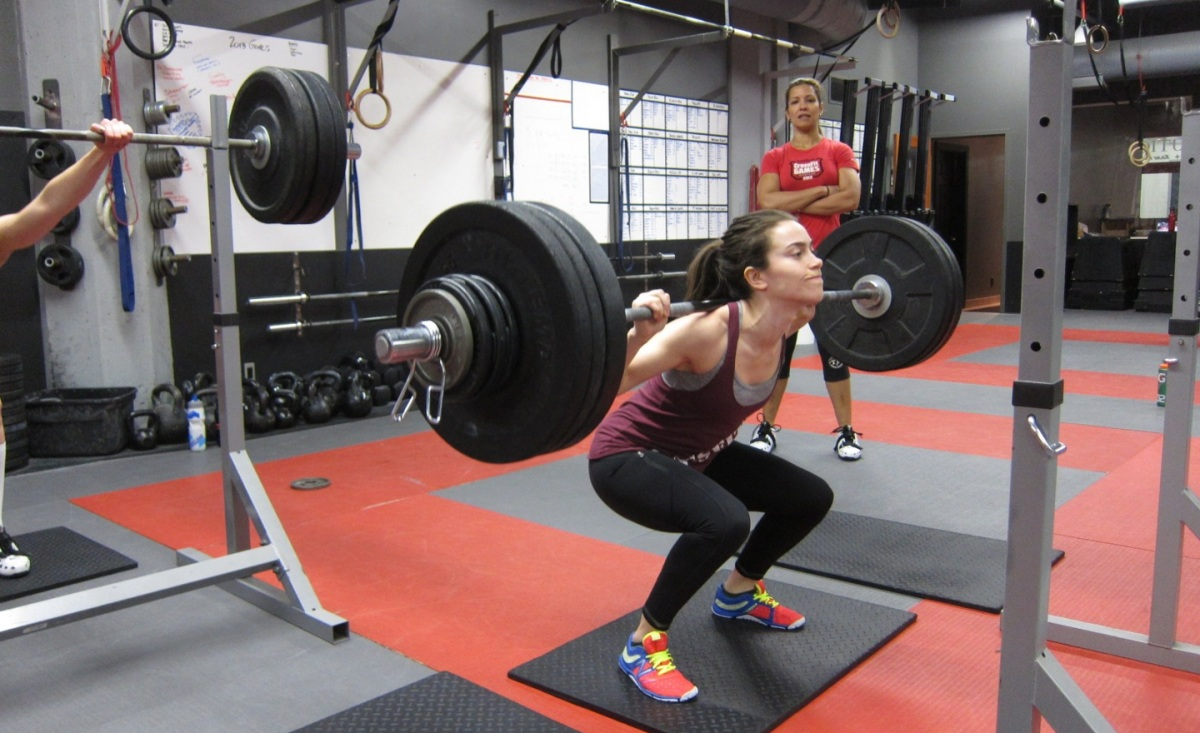 crossfit-back-squat Homemade Squat Rack Designs on for sale, diy wood, how use, planet fitness, fitness gear, diy metal, hammer strength,