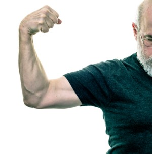 old man bicep